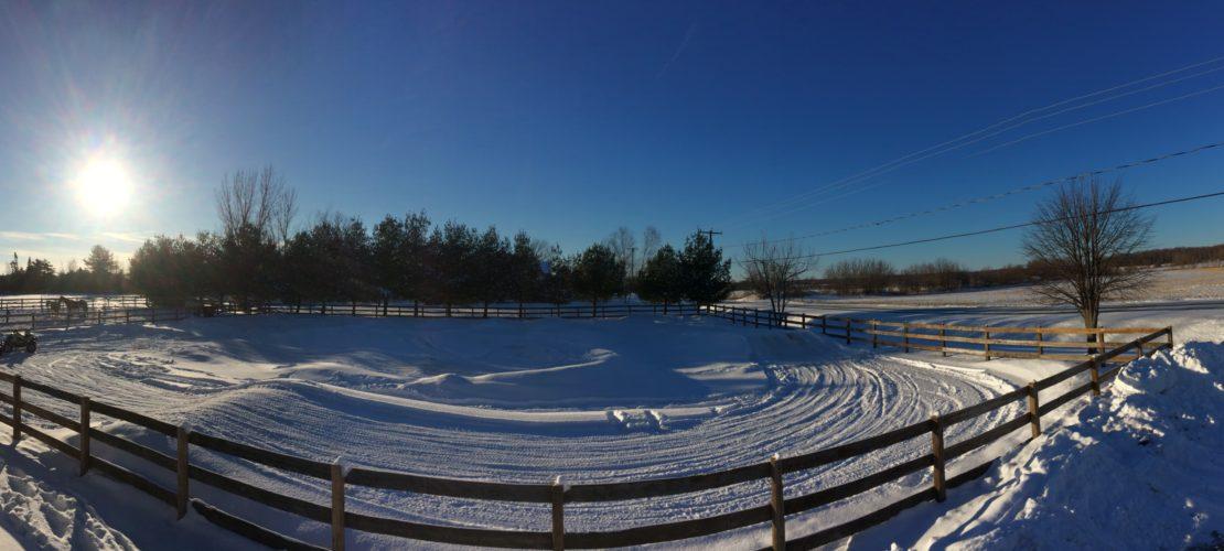 Circuit de VTT d'hiver